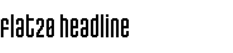 Flat20 Headline (Dharma Type)
