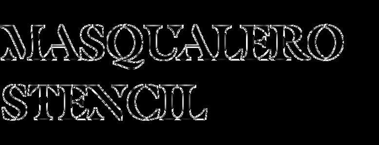 Masqualero Stencil