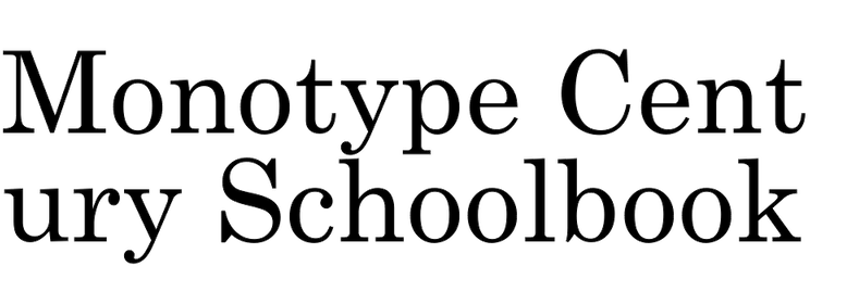 Monotype Century Schoolbook (Monotype )