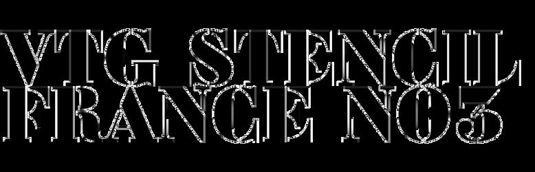 Vtg Stencil France No.3