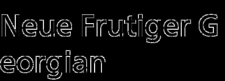 Neue Frutiger Georgian