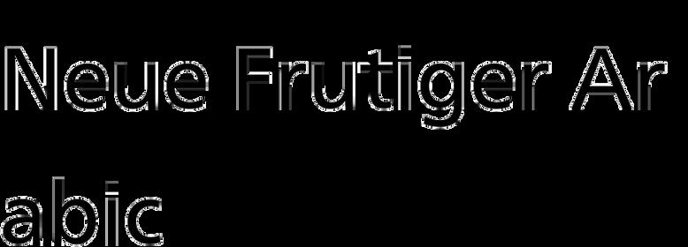 Neue Frutiger Arabic
