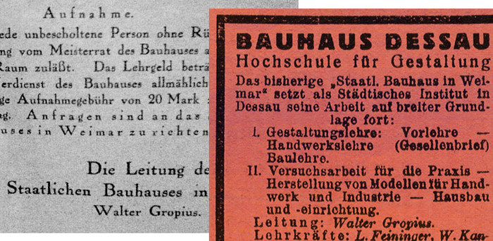 True Type of the Bauhaus - Fonts In Use