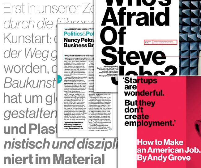 Neue Haas Grotesk for Bloomberg Business Week