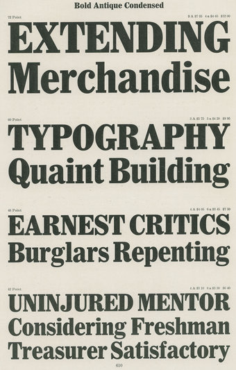 Bold Antique Condensed