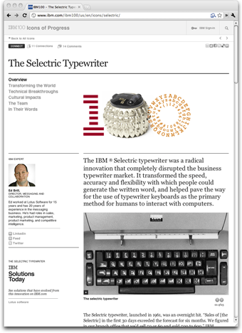 IBM 100 Icons of Progress - The Selectric Typewriter