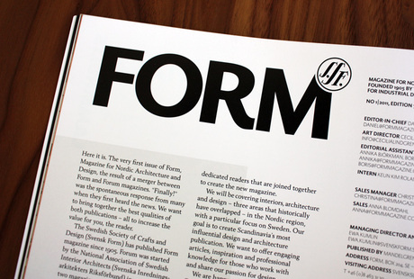 <cite>Form</cite> Magazine No. 1