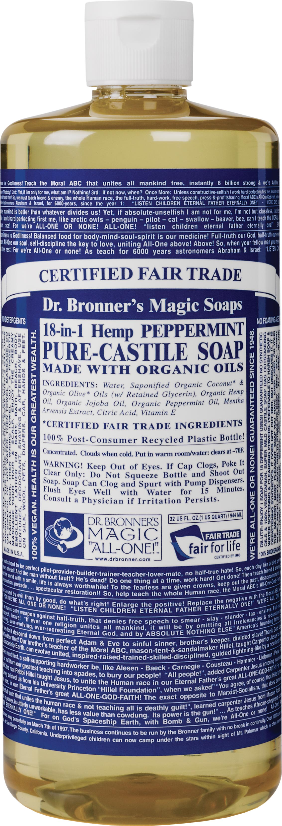 Dr  Bronner's Magic Soaps - Fonts In Use