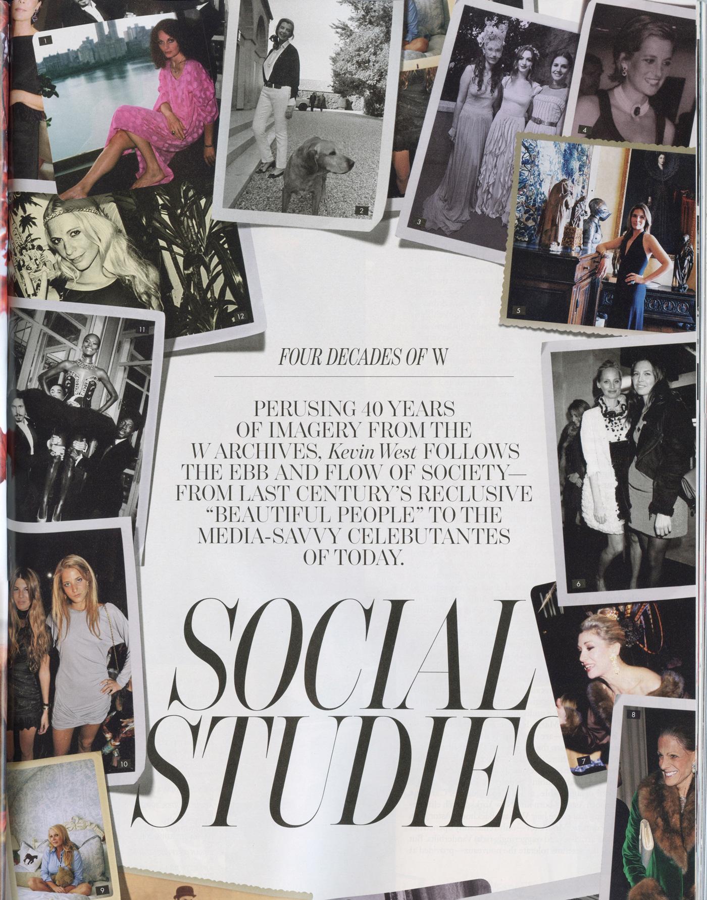 W Magazine, Sept. 2012 - Anniversary feature