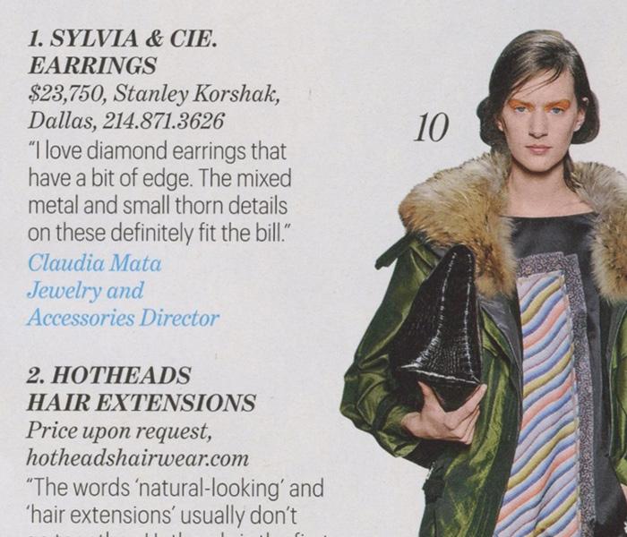 W Magazine, Sept. 2012 - text detail