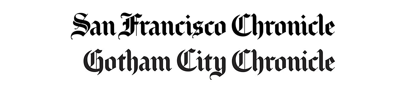 Gotham City Chronicle - Fonts In Use