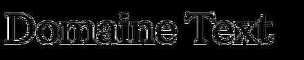 Domaine Text