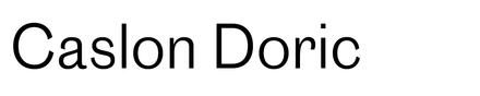Image of caslon doric