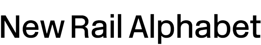 New Rail Alphabet