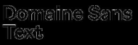 Domaine Sans Text
