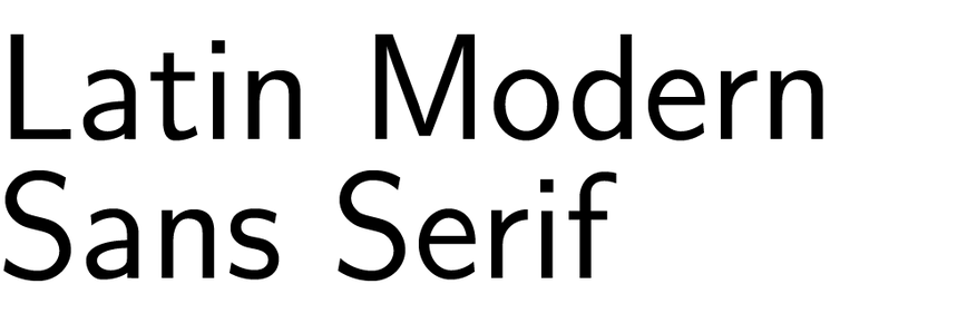 Latin Modern Sans Serif