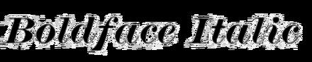 Boldface Italic