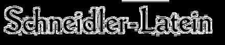 Schneidler-Latein