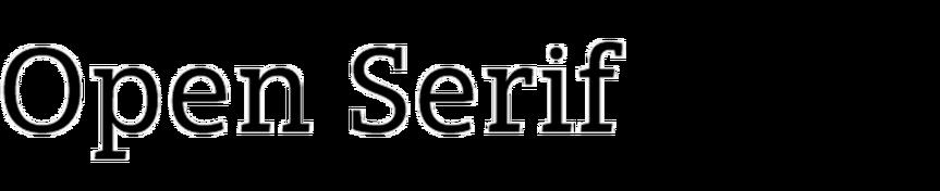 Open Serif