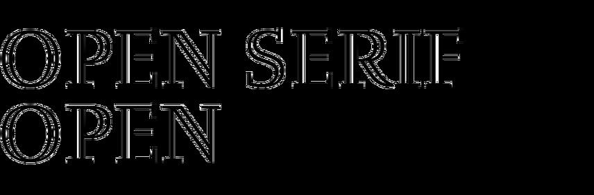 Open Serif Open
