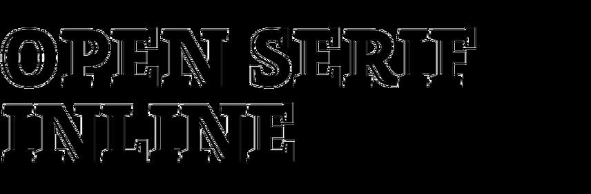 Open Serif Inline