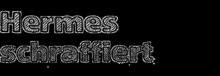 Hermes-Grotesk schraffiert