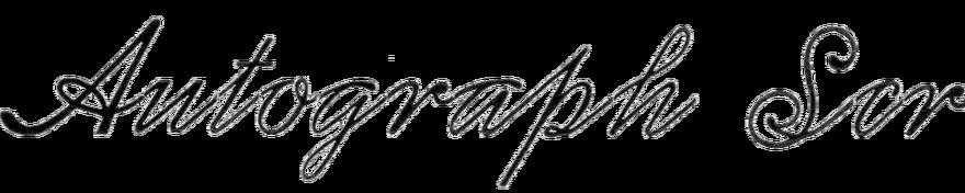 Autograph Script