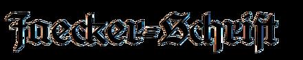 Jaecker-Schrift