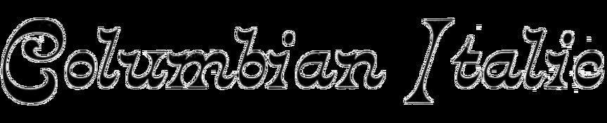 Columbian Italic