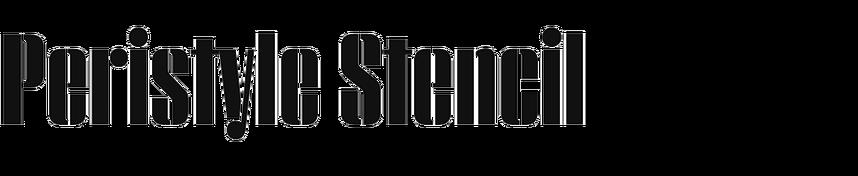Peristyle Stencil