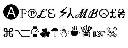 Apple Symbols