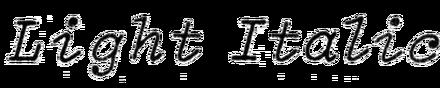 Light Italic