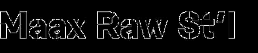 Maax Raw Stencil