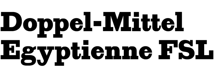 Doppel-Mittel Egyptienne FSL