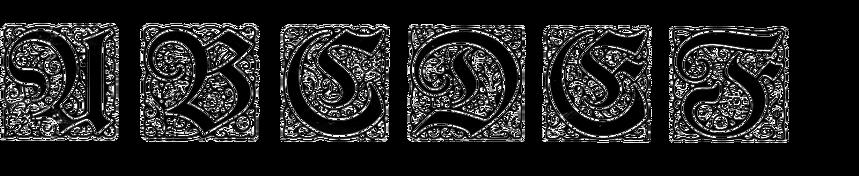 Mainzer Fraktur Initialen