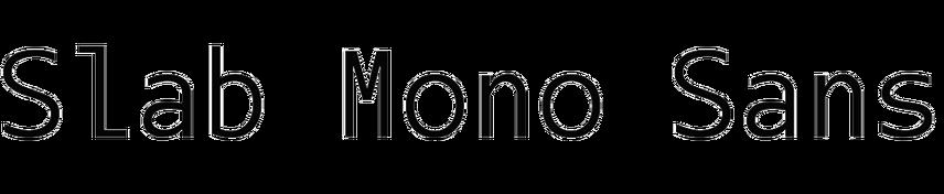 Slab Mono Sans