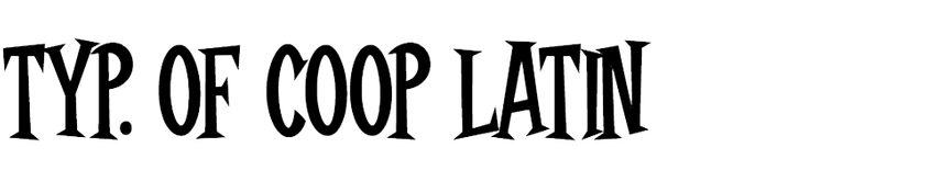 Typography of Coop Latin