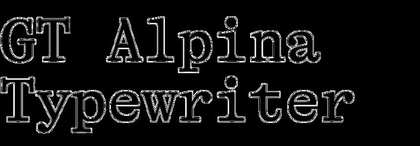 GT Alpina Typewriter