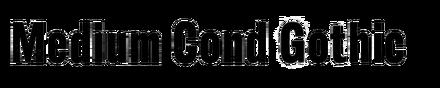 Medium Condensed Gothic