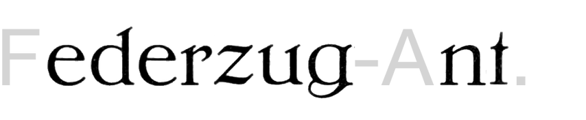 Federzug-Antiqua
