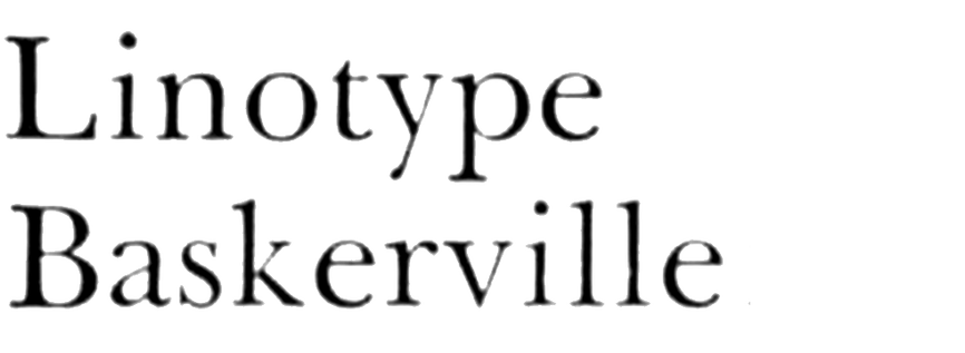 Linotype Baskerville