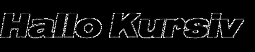 Hallo-Kursiv
