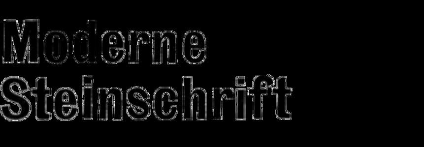 Moderne Steinschrift