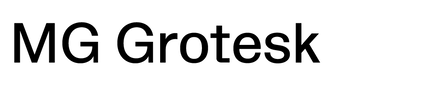 MG Grotesk