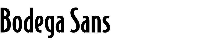 Bodega Sans