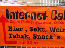 Internet Cafe advertising, Berlin