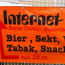 Internet Cafe advertising
