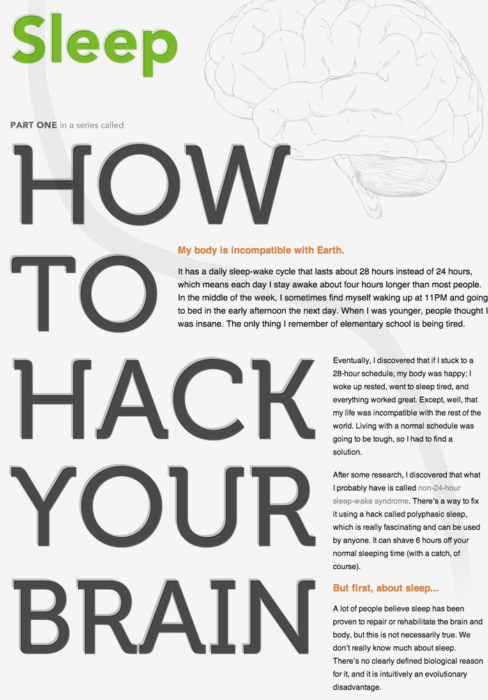 How to hack your brain website
