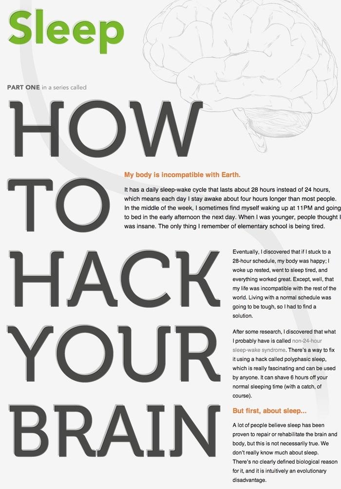 How to hack your brain website