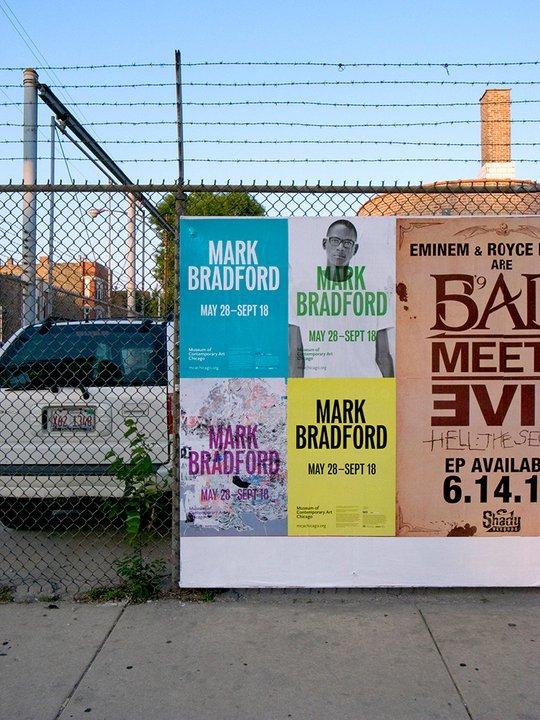 Mark Bradford poster series for MCA Chicago